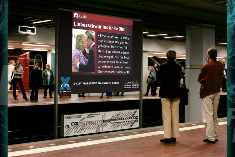 Underground advertising systems